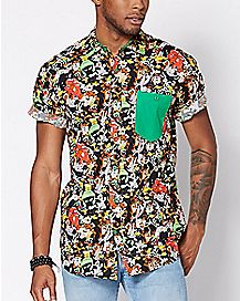 Button Down Looney Tunes Shirt