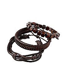 Multi-Pack Brown Bracelets - 3 Pack