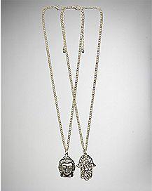Buddha and Hamsa Hand Friendship Necklaces