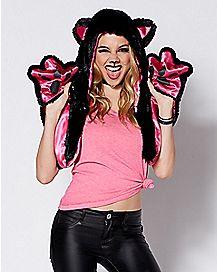 Black Cat Snood Hat