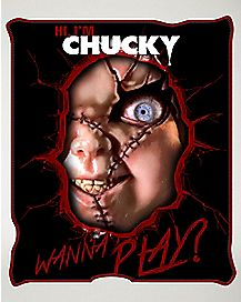 Hi I'm Chucky Wanna Play Fleece Blanket
