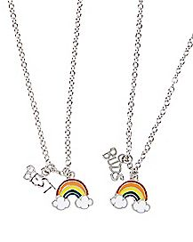 Best Buds Rainbow Friendship Necklaces