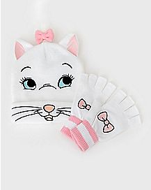 Marie Aristocats Beanie Hat and Gloves Set - Disney