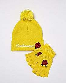 Enchanted Rose Hat and Glove Set - Beauty and the Beast