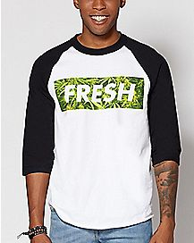 Weed Leaf Fresh Raglan T Shirt