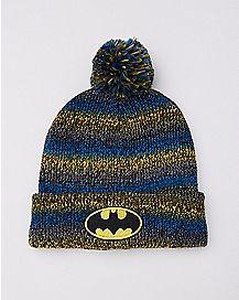 Striped Batman Pom Beanie Hat  - DC Comics
