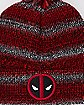 Marled Deadpool Pom Beanie Hat - Marvel