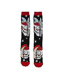 Skull Face Over the Knee Socks - Rick and Morty