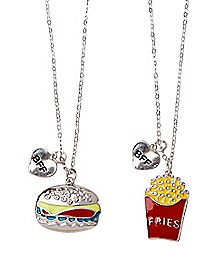Cheeseburger and Fries Friendship Necklaces