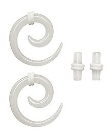 Multi-Pack Glow In The Dark Spiral and Plug Set - 2 Pair