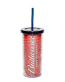 King Of Beers Budweiser Cup with Straw - 20 oz.