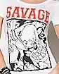 Savage Taz T Shirt - Looney Tunes