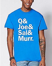 Q & Joe & Sal & Murr T Shirt - Impractical Jokers