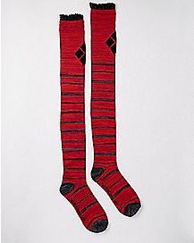 Harley Quinn Over The Knee Socks - DC Comics