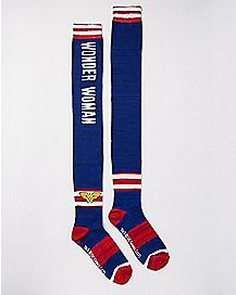 Wonder Woman Over The Knee Socks - DC Comics