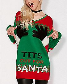 Tits Out For Santa Ugly Christmas Sweater