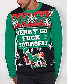 4163aad9 Ugly Funny Christmas Sweaters for Men & Women - Spencer's