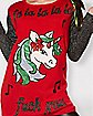 Light Up Fa La La La Fuck You Unicorn Ugly Christmas Sweater