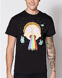 Rainbow Morty T Shirt - Rick and Morty