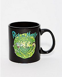 Temperature Changing Cat Rick and Morty Coffee Mug - 20 oz.