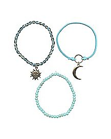 Sun and Moon Bracelets - 3 Pack