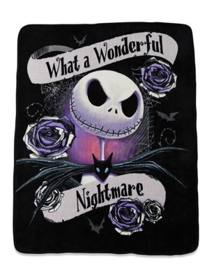 wonderful nightmare fleece blanket the nightmare before christmas - Nightmare Before Christmas Steering Wheel Cover