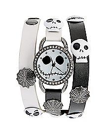 Jack Skellington Watch and Bracelets - The Nigthmare Before Christmas