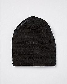 bcfc08f7e76 Faux Fur Black Slouchy Beanie