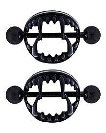 Fang Nipple Shields 1 Pair - 14 Gauge