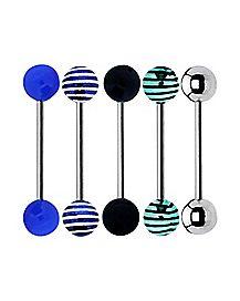 Blue Stripe Barbell 5 Pack - 14 Gauge