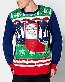 Stocking Budweiser Ugly Christmas Sweater
