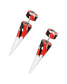 Black and Red Fake Tapers