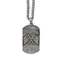 Burnished Flags Dog Tag Necklace