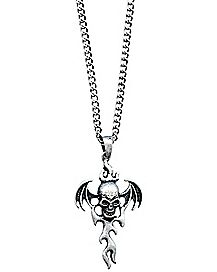 Fire Skull Necklace