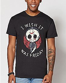 I Wish It Was Friday Jason Voorhees T Shirt