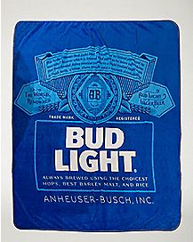 Bud Light Fleece Blanket