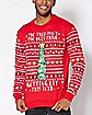 Light Up Getting Lit Tree Ugly Christmas Sweater