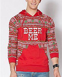 Beer Me Ugly Christmas Hoodie