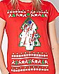 Sequin Get Lit Ugly Christmas T Shirt