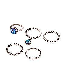 Druzy Rings - 5 Pack