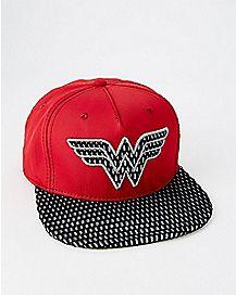 Perforated Wonder Woman Snapback Hat - DC Comics