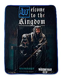 Welcome To The Kingdom Ezekiel Fleece Blanket - The Walking Dead
