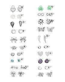 Multi-Pack Stud Earrings - 20 Pair