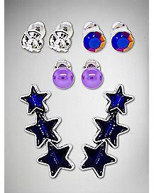 Multi-Pack Stud Earrings - 4 Pair