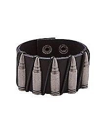 Bullet Leather Cuff Bracelet