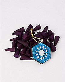 Rain Incense Cones with Holder - 40 Pack