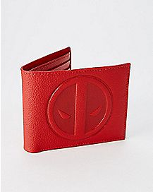 Leather Deadpool Bifold Wallet with Gift Box