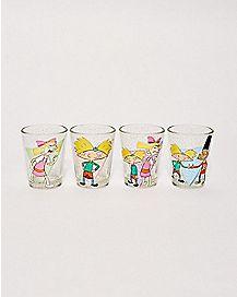 Hey Arnold Shot Glasses 4 Pack 1.5 oz. - Nickelodeon