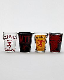 Fireball Shot Glasses 1.5 oz. - 4 Pack