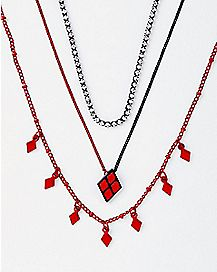 Multi-Pack Harley Quinn Necklaces 3 Pack - DC Comics